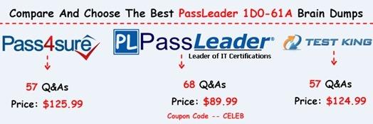 PassLeader 1D0-61A Brain Dumps[19]