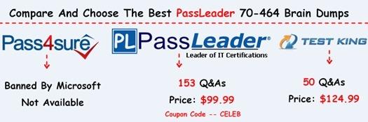 PassLeader 70-464 Brain Dumps[25]
