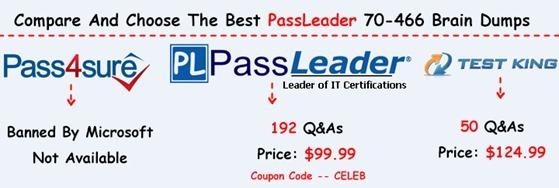 PassLeader 70-466 Brain Dumps[25]